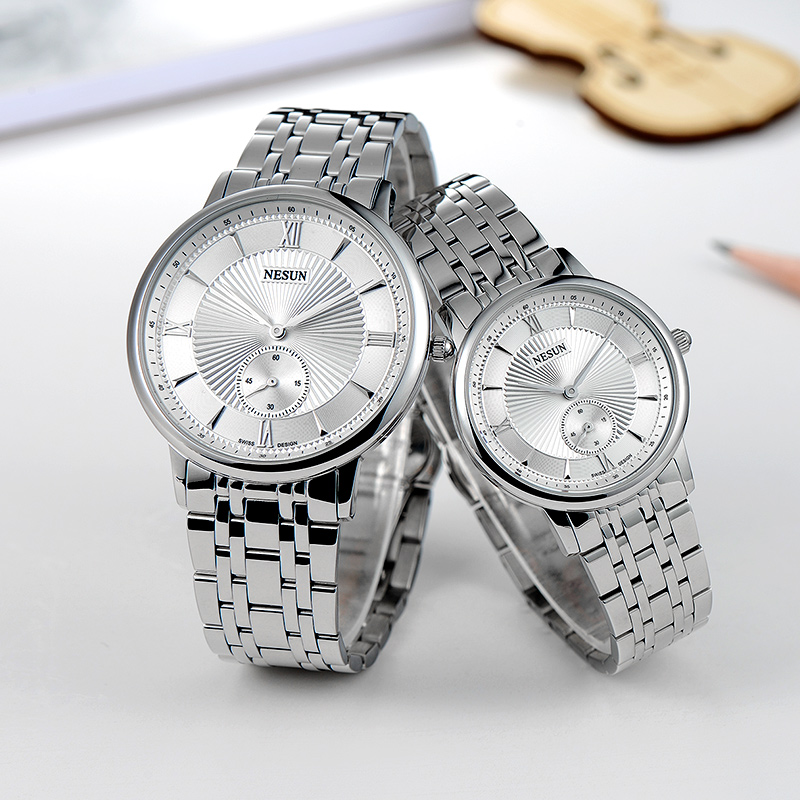 Nesun Switzerland Luxury Brand Watch Men Japan MIYOTA Quartz Movement Lover's Watches full Stainless Steel Women clock N8501-SL1 nesun switzerland luxury brand watch men japan miyota quartz movement lover s watches full stainless steel women clock n8501 sl3