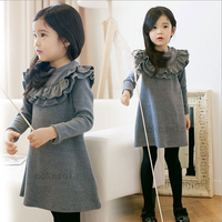 Free Shipping Top Quality Baby Dresses Girl Grid Long Sleeve Dress Autumn Children Garment Wholesale And