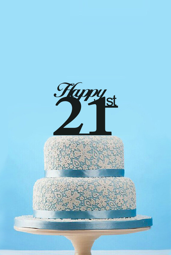 Best Personalized Birthday Cake Topper21st Arylic TopperCustom Topper For Party Decoration Casamento Reviews