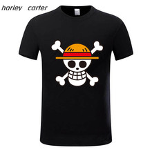 One Piece T shirt 2016 Fashion Japanese Anime Clothing Back Color Luffy Cotton T shirt For