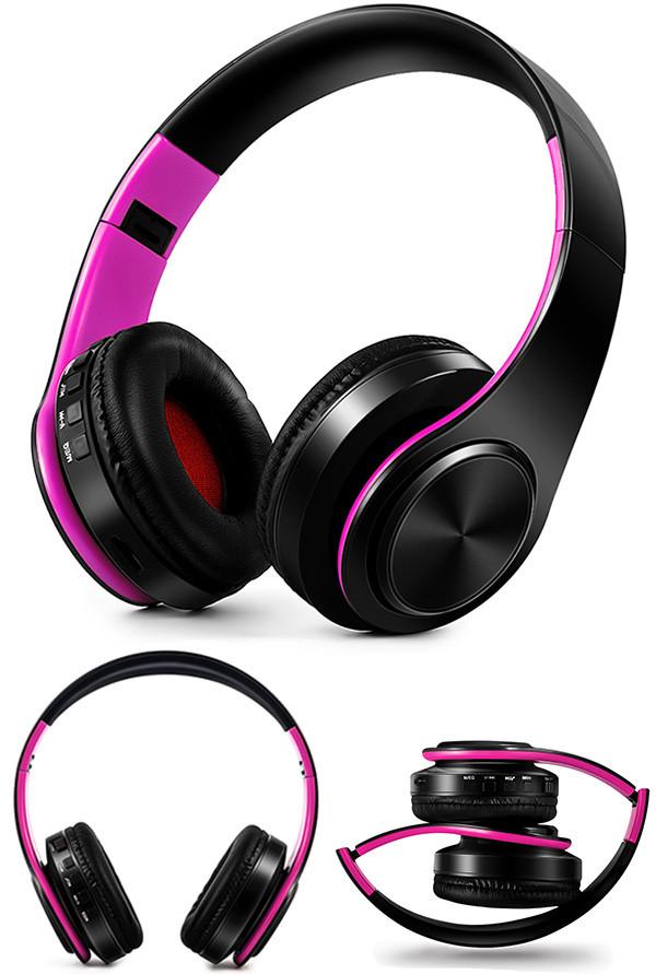 Słuchawki Bluetooth Headset słuchawki Bezprzewodowe Słuchawki Stereo Składany Sport Słuchawki Mikrofon słuchawki Tryb Głośnomówiący odtwarzacz MP3 18