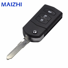 maizhi 3 Buttons Key Shell Cover Styling For Mazda 2 3 5 6 RX8 MX5 Flip Remote Case Fob Replacement 3 BTN no Logo