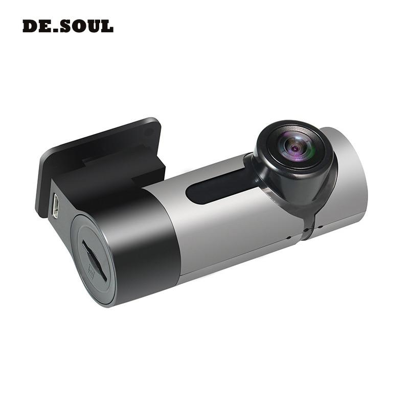 PARASOLANT HD caché Mini caméra lentille unique 360 degrés panoramique conduite enregistreur voiture caméra Support boucle enregistrement 20 heures