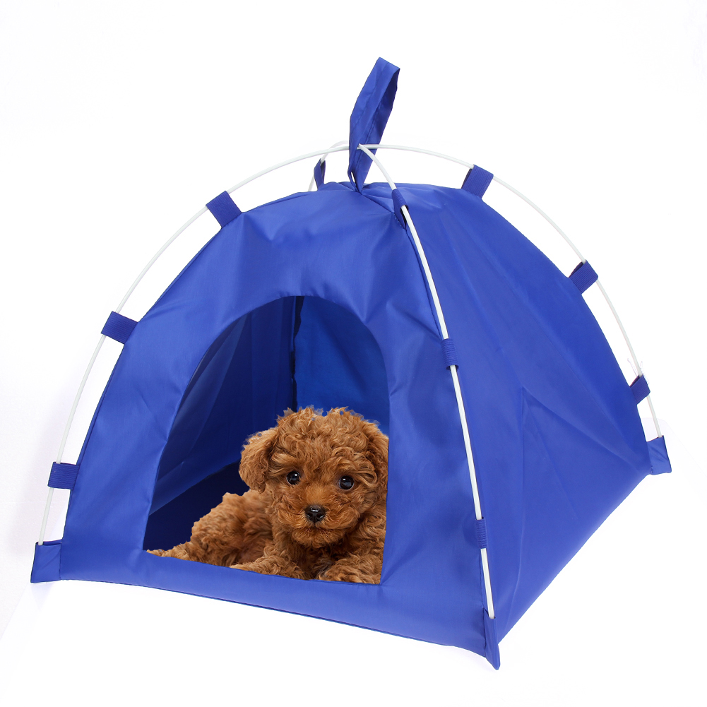 Oxford Portable Folding Pet Tent House Dog Cat Playing Bed