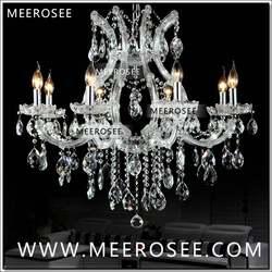 Хит продаж Мария-Терезия Ясно Белый хрустальная люстра лампа Блеск Cristal Pendelleuchte светильник наивысшего качества 8 Огни