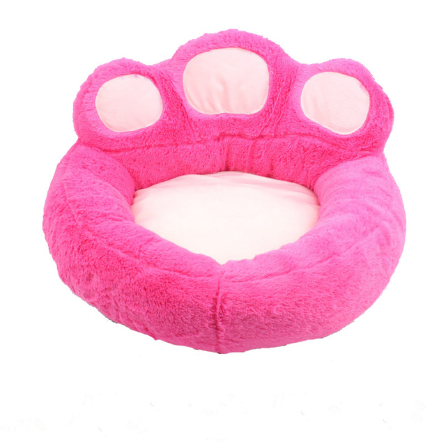 Removable Pet Dog Beds Warming Dog Cat Bed House Nest for Puppy Cat Bear Claw Shape Pets Sofa Mat Cushion S/M/L