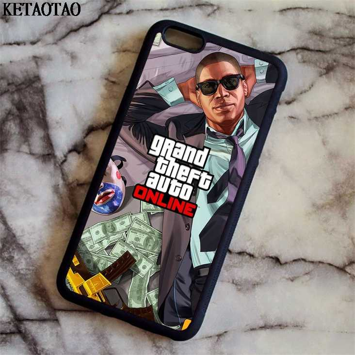 KETAOTAO Grand theft auto GTA 5V Phone Cases for iPhone 4S 5C 5S 6 6S 7 8  Plus XR XS Max for X 6 Case Soft TPU Rubber Silicone