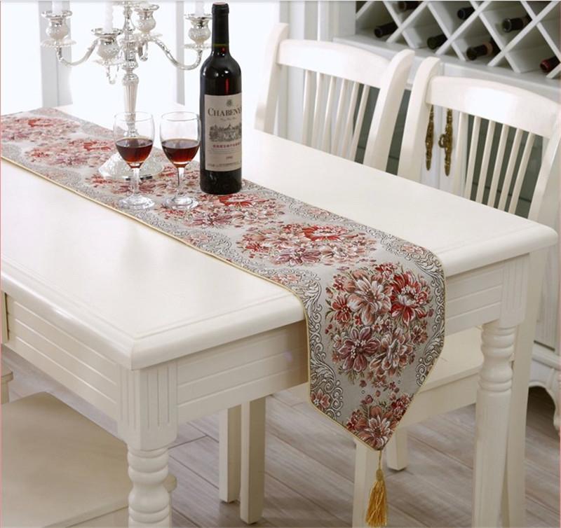moderno camino de mesa bordado mantel de alta calidad de la boda caminos de mesa decoracin