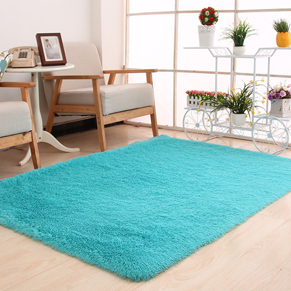 Large Plush Shaggy Thicken Soft Carpet Area Rug Floor Mats