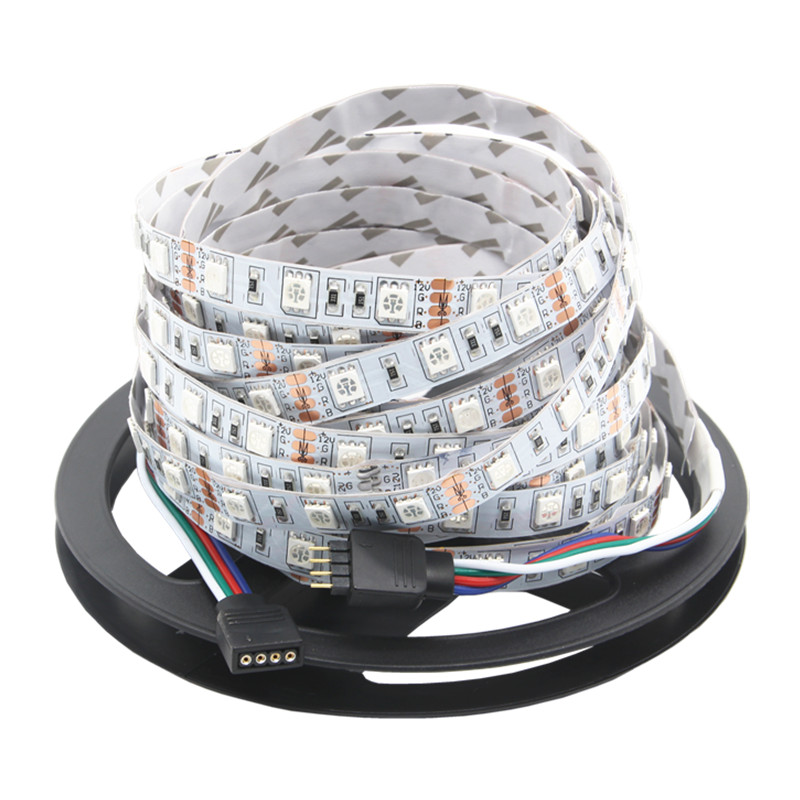 BEIYUN SMD 5050 RGB LED Strip 5M 300LED Not Waterproof DC 12V LED Light Strips Flexible Neon Tape Luz White / Warm White / RGB waterproof 72w 7000k 4200 lumen 300 5050 smd led white light flexible strip 5m length dc 12v