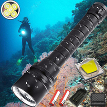 60000lumens Diving LED Flashlight Professional Powerful led Waterproof Scuba Diver Light Underwater Torch Lamp Lanterna