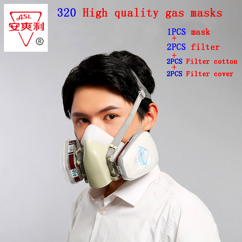ASL-320 respirator gas mask high quality Silica gel protective mask against Painting pesticide formaldehyde chemical gas mask