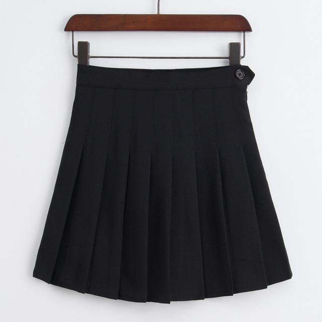 Harajuku Kawaii Rosa Mini faldas plisadas mujeres verano 2018 coreano  Ulzzang estilo dulce del Color del ea1a0b8cea18