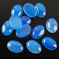 Free shipping Natural Blue Agate Gem Stones Oval Cabochon CAB No Drill Hole 13x18mm Jewelry Making 10pcs/lot PN2114