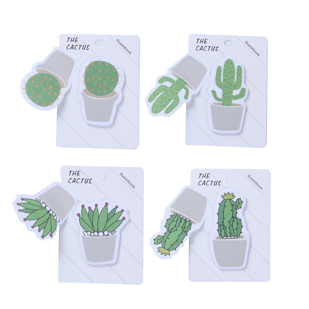 Cactus Ball Lovely Cute 30sheets Memo Paper Stickers Notes Kawaii Sticky Creative Paper DIY Memo Pads Sticker Label Stationery