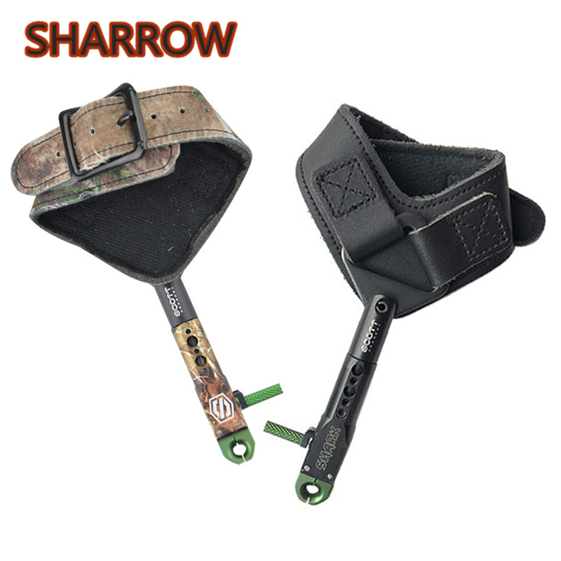 1pc Archery Wrist Release Aids 360 Rotating Caliper Straps Trigger Compound Bow Release Outdoor Shooting Training