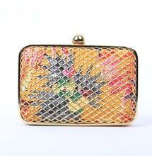 Painted metal mesh flower clutch evening bag fashion design lady wedding party dinner purse chain shoulder bag messenger bag