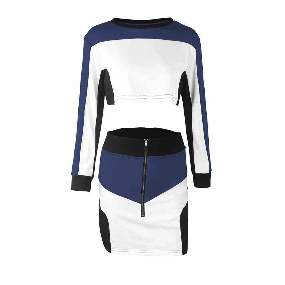 Женские костюмы, весенне-осенняя толстовка из двух предметов, толстовка с юбкой, Спортивные Повседневные комплекты с длинными рукавами, conjunto feminino