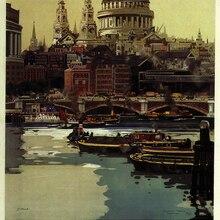 Vintage tren británico viaje turismo póster Londres lienzo clásico pinturas pared carteles pegatinas hogar Decoración regalo