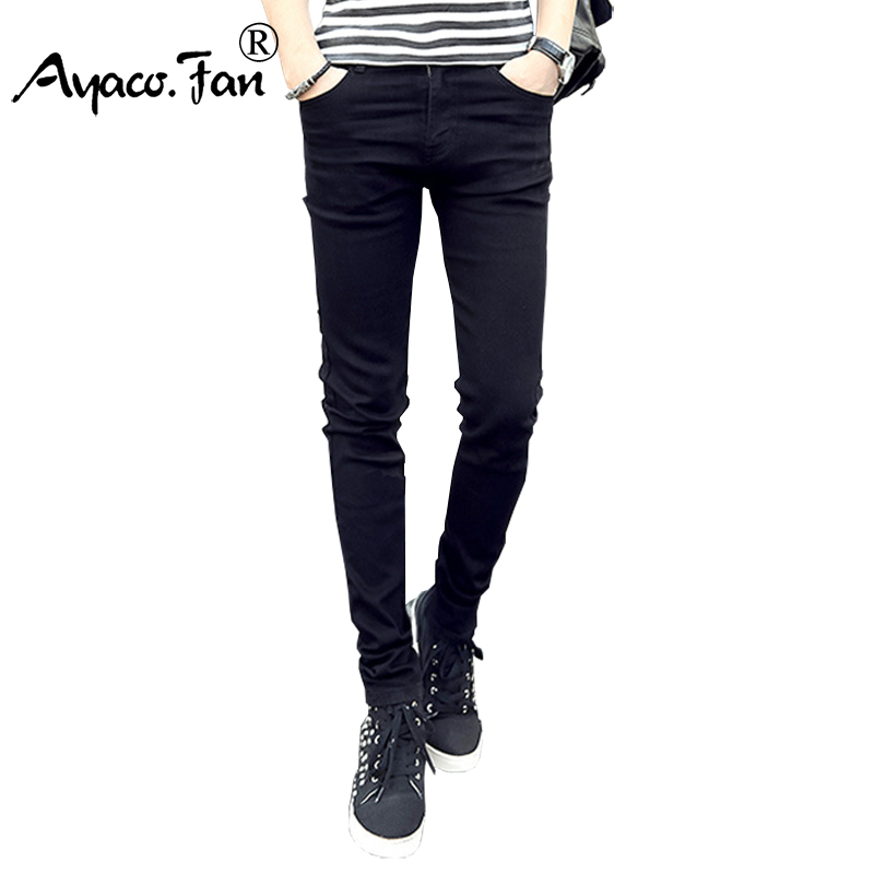 2017 Summer Men's All-match  Black Jeans Fashion Students Stretch Skinny Man Slim Pencil Pants Denim Male Trousers Bottom Pants all summer long