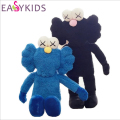 Fashion KAWS Bff Kaws Dolls Blue Black Stuffed Toys Kids Birthday Gifts High Quality Cotton Plush Toys Kaws Dolls for kids