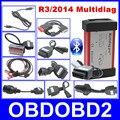 2016 El Más Nuevo R3/2014 Diagnóstico Multidiag Pro + Profesional Misma Función de Apoyo Bluetooth CDP + 8 unids Coche Cables + Tarjeta de 4 GB TF
