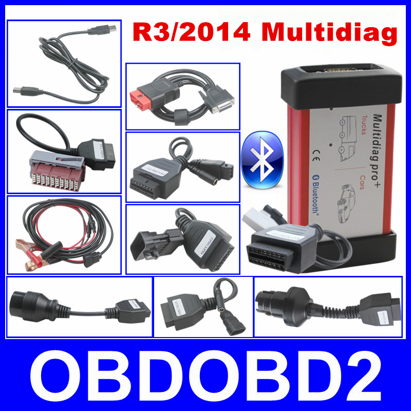 2016 Newest R3 2014 Multidiag Pro Professional Diagnosis Same Function of CDP Support Bluetooth 8pcs font