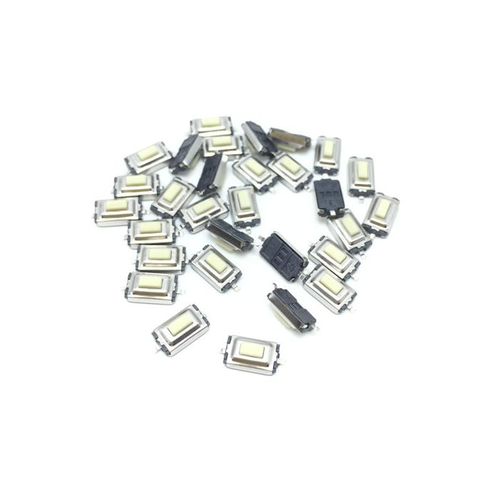 100Pcs High Quality 3*6*2.5mm 3*6*2.5H 3x6x2.5mm SMD White Push Button Switch Microswitch Tact Switch
