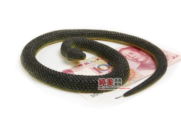 simulation model large snakes spoof Tricky Snake toy gift scary fake snake mascot