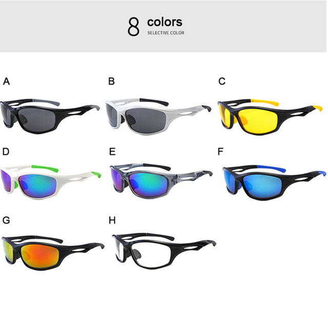 Bicycle glasses Sports motorcycle Cycling Riding Running UV Protective Goggles Sunglasses eyewears for Men Women 5