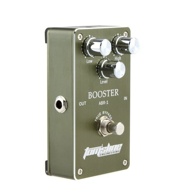 US $28 49 5% OFF|Aroma ABR 1 Aluminum Alloy Housing Low Noise Booster  Guitar Effect Pedal Built in operation amplifier with Ture Bypass-in Guitar