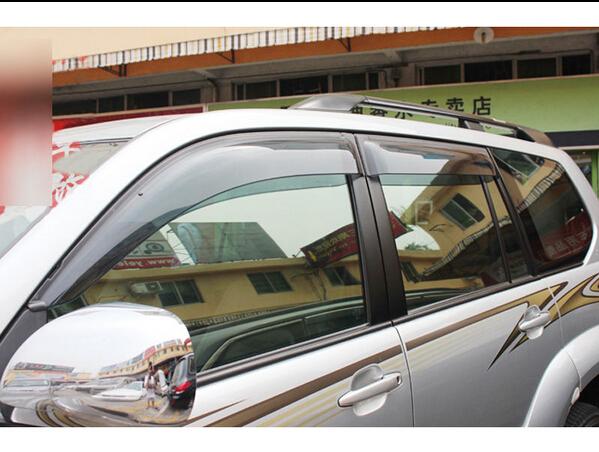Alta Qualidade Janela Visor Ventilação Shades Sun Guarda Chuva Para Toyota Prado Fj120 2003-2009