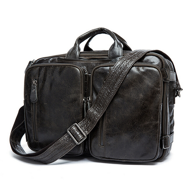 Multi-functional leather backpack free shipping