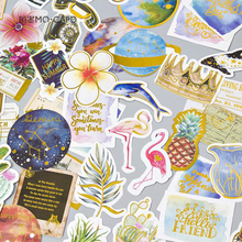 24Pcs/pack Vintage Star/plant Foil Sticker Scrapbooking Creative DIY Journal Decorative Adhesive Seall Stationery Supplies