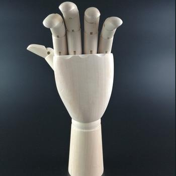 20cm Right/Left Hand Artist Model Jointed Articulated Wood Sculpture Mannequin Wooden Wooden Drawing Manikin Art Supplies