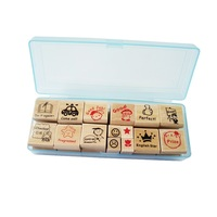 15 Pcs Set Wood Stamp Cartoon For Kindergarten Nurse School Teacher Reviews Teachers Encourage Rubber Stamp