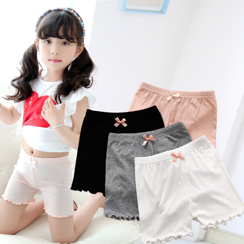 Girl Safety Pants Thin Summer Modell Anti-walk Little Girl Child Panties Middle Baby   Shorts