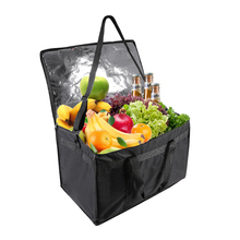 Cherrboll Insulation Package Uber Portable Handbag Delivery Food Bag Dummy Thicken Plate Insulated Cooler Bag(58.5x35.5x39cm)