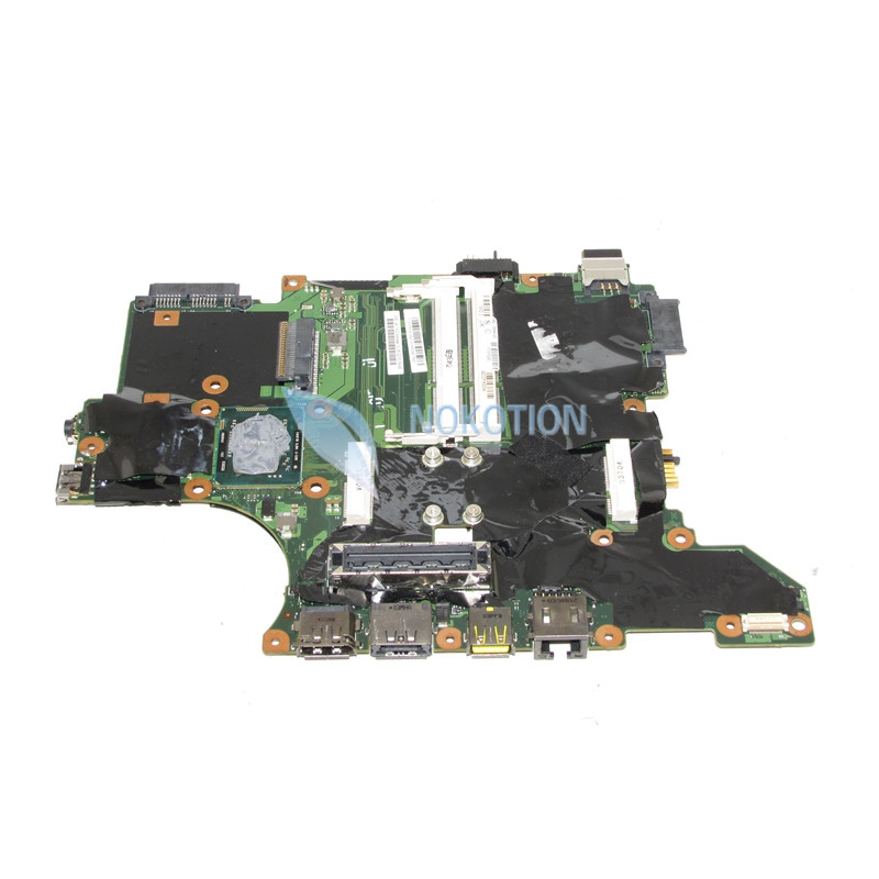 NOKOTION 75Y4122 PC Notebook Main Board For Lenovo Thinkpad T410I QS57 i5-520M Laptop Motherboard DDR3 41w1487 14 1 inch notebook pc main board for lenovo thinkpad t61 motherboard system board ddr2 free cpu