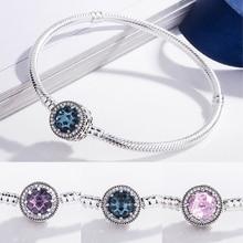 Stone Eye S925 Silver Bracelet Snake Chain Bangle For European Sterling Silver Charm Bead Women Girl Jewelry Valentine Gift недорого