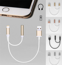 NEW 2in1 For iPhone 7 Plus to 3 5mm Earphone HeadPhone Audio Cable Jack font b
