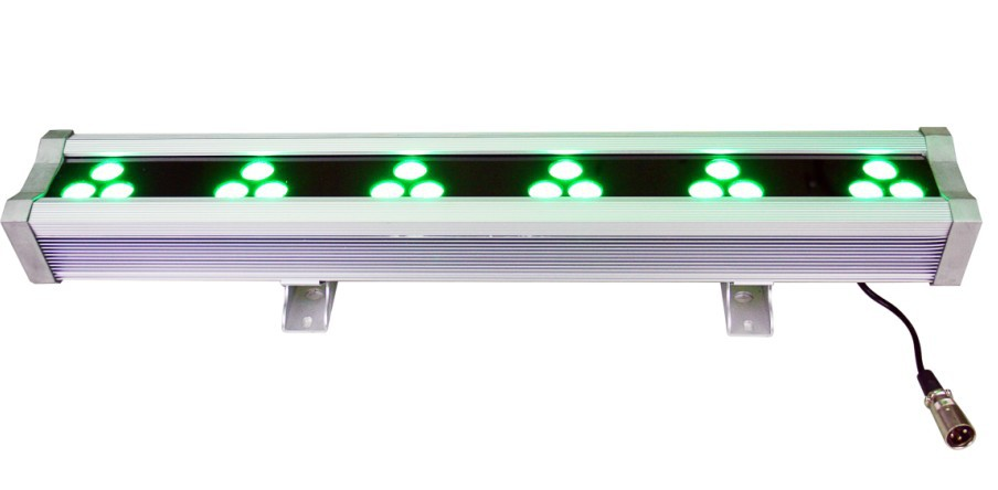 18*3W RGB 3in1 100-240V AC led wallwasher built in DMX controller with 3years guarantee with FCC SAA CE Rohs dmx512 digital display 24ch dmx address controller dc5v 24v each ch max 3a 8 groups rgb controller