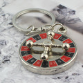 high quality Russian roulette keychain key ring llaveros hombre creative chaveiro portachiavi free shipping