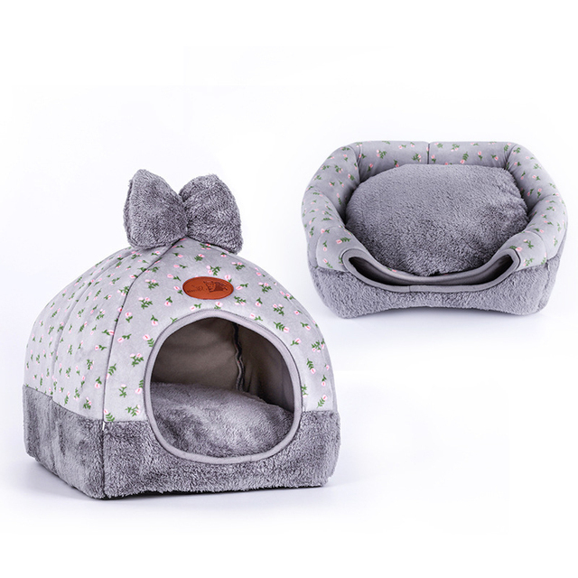 OLN 1PC Pet Dog Bed & Sofa Warming Dog House Soft Dog Nest Winter Kennel For Puppy Cat Plus Size Small Medium Dogs Pet 3