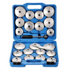 21 Pcs Oil Filter Wrench Set Cup Type Aluminium Alloy Polished New With Wrench And Tool