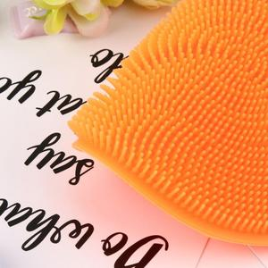 Image 5 - Silicone Dish Washing Sponge Scrubber Kitchen Cleaning antibacterial Strong effect to Grease Tool Kitchen accessories