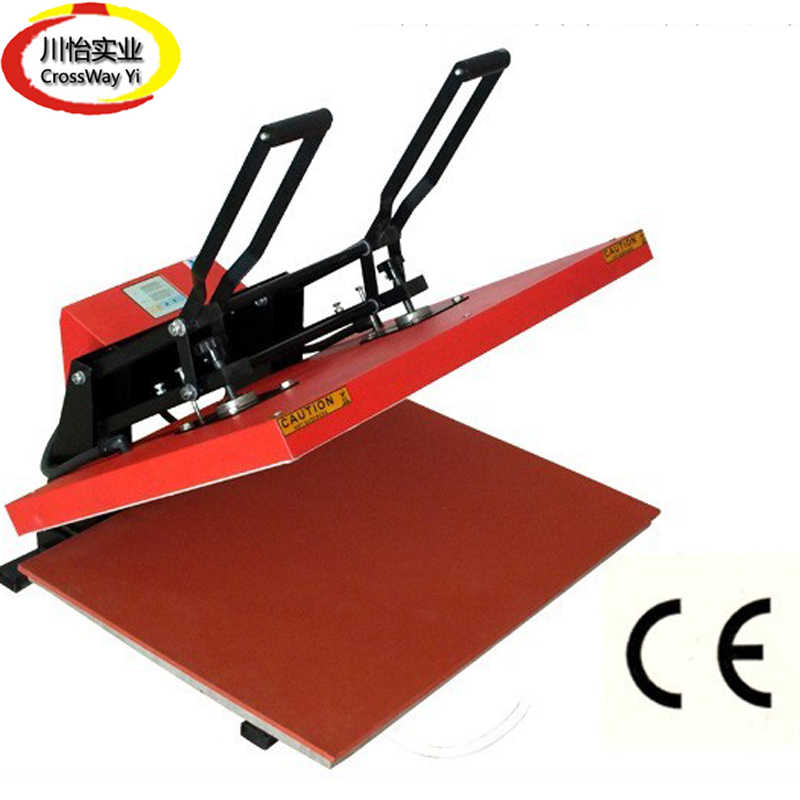 Besar Besar Format Sublimasi Manual Mesin Press Panas 60 Cm * 80 Cm