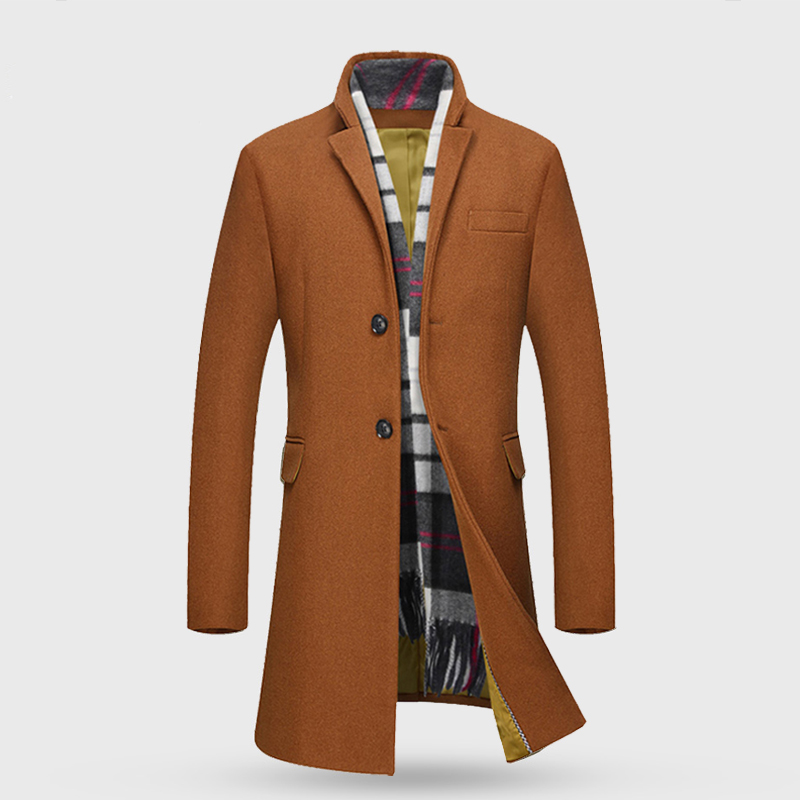 2017 new style of winter Men's leisure fashion business thickening trench coat Men's wool jackets,trench coat 4 color