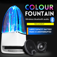ARYAGO Creative Bluetooth Speaker LED Dancing Water Fountain Light Music Wireless Portable Speakers Support TF Card