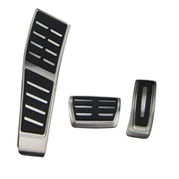 RHD AT\MT Stainless Steel Car Fuel Brake Footrest Pedals for Audi A4 S4 B8 8K / A5 S5 8T / Q5 Suitable for right side driving